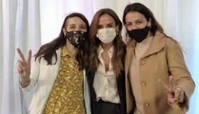 Tolosa Paz en Los Foltos con Julieta y Amanda